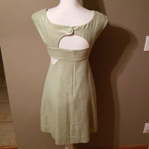 Anthropologie Dresses - Anthro Maeve-Light Green Metallic Dress